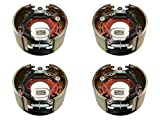 M-Parts 2 Pairs of Self-Adjusting 12-1/4' X 5' (12.25' X 5') Electric Trailer Drum Brake Assemblies for 12,000 to15,000 Lbs (12K-15K) Trailer Axles; 2 LH (77-1212-1) + 2 RH (77-1212-2)