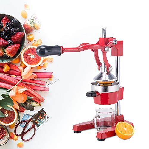 Z ZELUS Spremiagrumi Manuale per Uso Professionale Spremi Melograno Arancio Limoni Spremiagrumi a Leva Acciaio (Rosso)