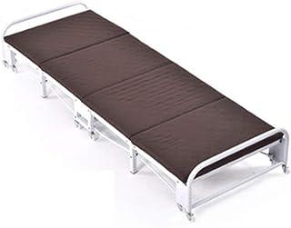 Produits ménagers Lit pliant Rangement facile Cadre de lit d'invité pliant avec matelas Matelas double pliable Lit simple ...