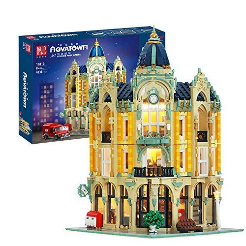 JW-YZWJ Hausbausätze mit LED-Licht, 4030 Stück Post Modular Buildings Architektur BAU Spielzeug Geschenk für Kinder Erwachsene, Kompatibel mit Lego-Technologie