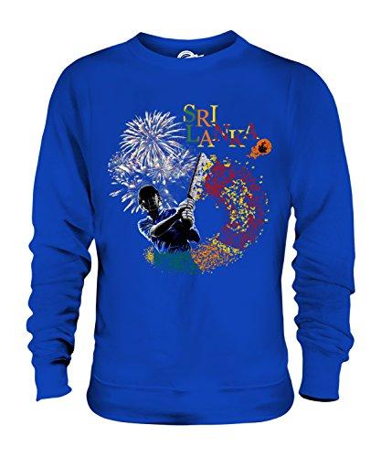 Candymix Sri Lanka Cricket Unisex Herren Damen Sweatshirt, Größe 3X-Large, Farbe Königsblau