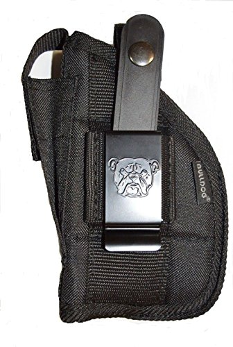 Bulldog Cases Belt and Clip Ambi Holster (Fits Most Compact Auto's with 2 1/2-Inch - 3 3/4-Inch Barrels with Laser Or Tac Light,Black,Black