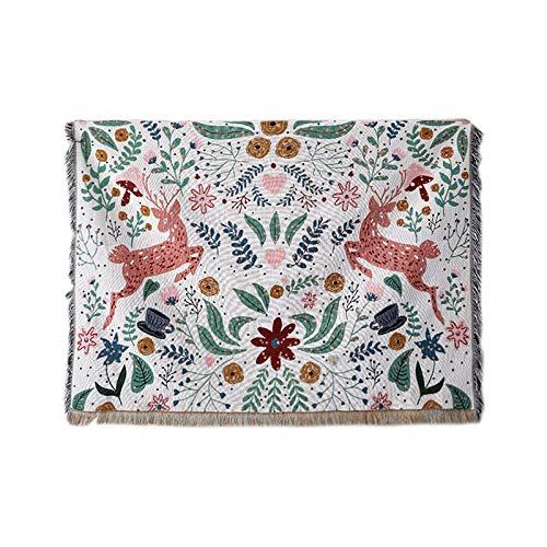 Klavierbezug aus Baumwolle mit Fransen, universelle staubdichte Tischdecke für alle Jahreszeiten in Europa & Amerika, 160 × 220 cm, verdickte Mischwalddecke