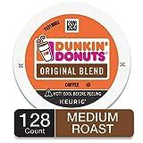 Dunkin' Donuts Original Blend Medium Roast Coffee, 128 K Cups for Keurig Coffee Makers