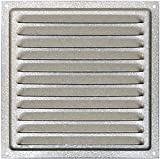Ventilazione in acciaio zincato 20 x 20 cm, griglia in acciaio zincato con insetti net, Air Vent aluminum, bistecchiera in alluminio con insetti netto 20 x 20