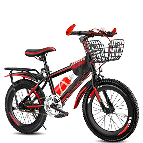 TXTC Kids Bike Boys Girls Freestyle Bicycle with Sports Comfort Saddle,16/20 Inch Wheel Mountain Bikes with Double Disc Comfort Bikes, Brake Best Gift for Kids (Color : Black, Size : 20inch)
