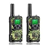 walkie talkie bambini con vox-hands free, 6km PMR446walkie talkie Long Distance, 312canali gruppo con suono cristallino, 2WAY radio, confezione da 2(verde camouflage) (verde camouflage)