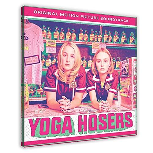 Famosa actriz francesa y modelo Lily-Rose Melody Depp Yoga Hosers banda sonora álbum de música cubierta de lienzo para decoración de pared de la sala de estar, dormitorio decoración de 60 x 60 cm