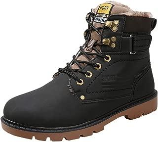 Famisamy 🍁🍁 Fashion Men's Winter Plus Velvet Waterproof Non-Slip British Casual Tooling Boot