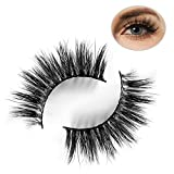 3D Mink Lashes 2 Pairs, Halloween, Christmas Theme False Eyelashes,100% Siberian Mink Fur False Eyelashes,100% Handmade & Cruelty-Free,17mm Dramatic Round Look & Reusable-LINGSTAR(D006-Jodie)