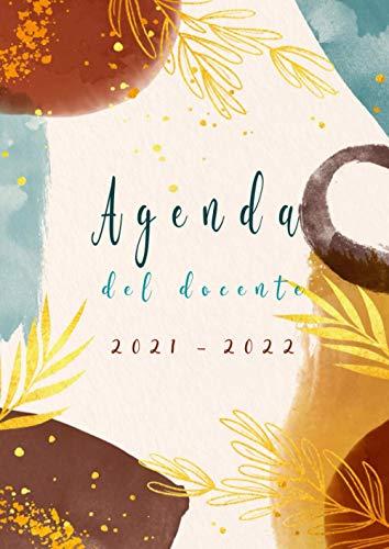 Agenda del docente 2021/2022: A4 Grande Registro del Professore italiano -astratto- da agosto a luglio ,XXL calendario per scuola settimanale , diario insegnante ,