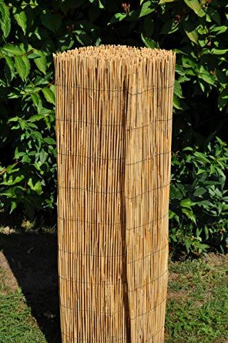 Schilfrohrzaun, Sichtschutzmatte, Schilfrohrmatte, 500 cm H 150 cm