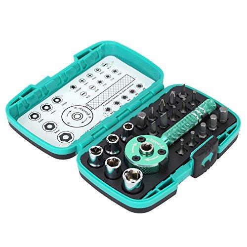 Pro'sKit M-2319SD 22pcs Palm multi-funcional Llave de carraca 1/4