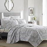 Laura Ashley Home Venetia Collection Quilt Set-100%...