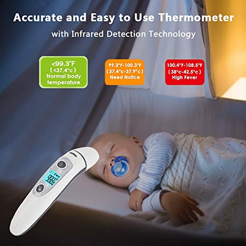 Bebe Thermometre, Medical Numerique Infrarouge Frontal et Oreille...
