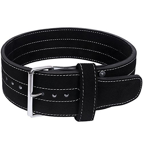 Hawk Single Prong Power Lifting Belt Men & Women Weightlifting Competition Workout Training Weight Lifting Belts 10mm IPF Powerlifting Belt!!! (M)