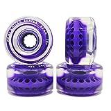Moxi Gummy 65mm Roues Roller Quad(par 4) - 78A, Violet