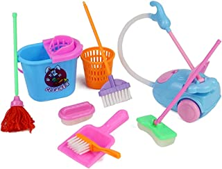 YHomU Pretend Play Baby Babies Girls Party Favor Accessories Dolls Cleaning Supplies Miniature Doll Cleaning Tool Set Doll...