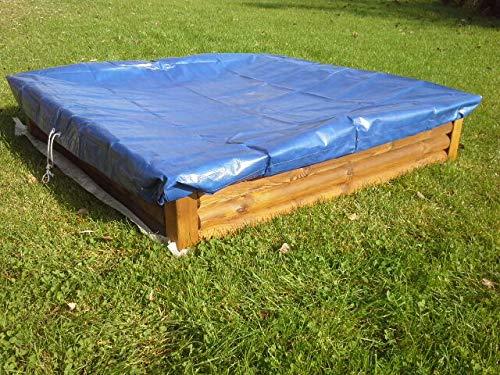 Naturholz-shop Sandkasten Deckel 150 x 150 cm Holz Sandbox Sandkiste Buddelkasten Spielkasten mit Vlies !!