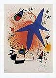 1art1 Joan Miró - Der Blaue Stern Poster Kunstdruck 80 x