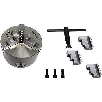 100 mm selbstzentrierendes 4-Backen-Drehfutter mit zus/ätzlichem Zubeh/ör f/ür Backendrehmaschinen