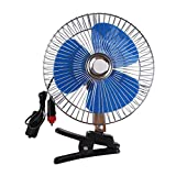 MagiDeal Ventilador de Aire con Clip de Enfriamiento Oscilante Portátil para Camión, Automóvil, Vehículo-12V