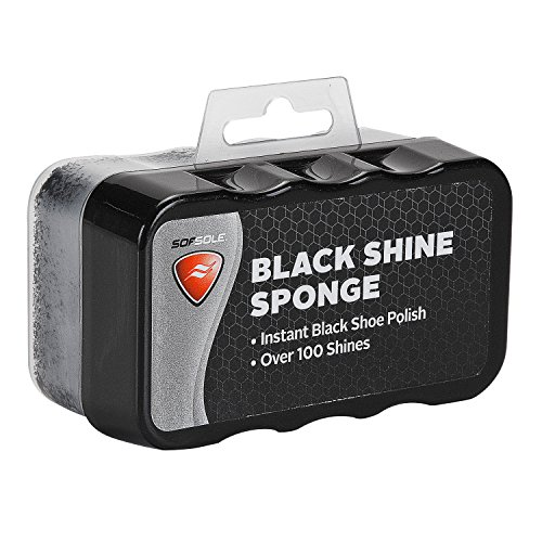 Sof Sole Black Shine Sponge, Great for home, office or on the go
