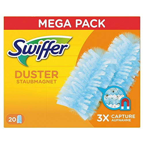 Swiffer Staubmagnet Nachfüllpack 20 Tücher, nimmt 3x mehr Staub & Haare auf und schließt diese ein