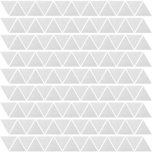 PREMYO 144 Triángulos Pegatinas Pared Infantil - Vinilos Decorativos Habitación Bebé Niños - Fácil de Poner Plata