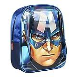 Artesania Cerda Mochila Infantil 3D Avengers Capitan America, Color Azul, 31 cm
