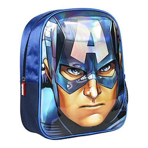 Artesania Cerda Mochila Infantil 3D Avengers Capitan America  Color Azul  31 cm
