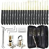 28-teiliges Lockpicking-Set mit 2 transparenten Trainingsschlössern und Kreditkarten-Lockpicking-Tool-Kit für...