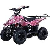 X-PRO 110cc ATV Quad Youth ATVs Quads 110cc 4 Wheeler ATVs ATV 4 Wheelers ,Spider Pink