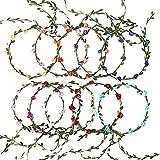 FORMIZON Flor Corona Diadema, 10 Pcs Cinta para el Cabello de Corona de Flores, Multicolor Flor Guirnalda Diadema, Hecha a Mano Diadema Floral para Boda Fiesta de Cumpleaños Playa Viaje Fotografía