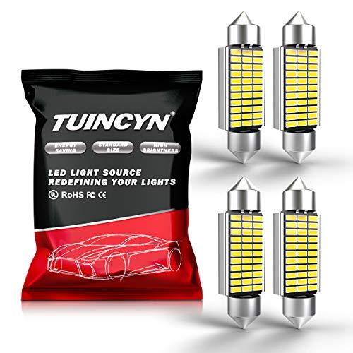 Tuincyn 2-pack extrêmement Blanc 3 cm 31 mm 3014 ampoules LED Chipset 18smd objectif lumière LED Intérieur de voiture lumières plaque Porte Carte lumière 2.8 W DC 12 V