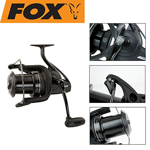 Fox FX13 Reel Rolle zum Karpfenangeln, Angelrolle für Karpfen, Weitwurfrolle, Spule mit hoher Schnurfassung