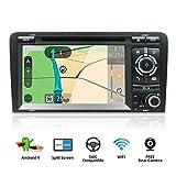 YUNTX Android 9 Autoradio Compatible avec Audi A3 (2003-2011) - GPS 2 Din - Caméra arrière et Canbus GRATUITES - 7' Écran - 2G32G - Soutien Dab+ /Commande au Volant / 4G / WiFi/Bluetooth/Mirrorlink