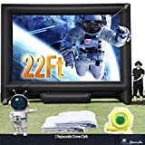 22FT Inflatable Mega Movie Screen Outdoor - Front and Rear Projection - Portable