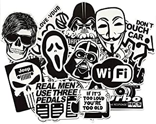 60 Pieces Random Black and White Sticker Cool Stickers for Kids Sticker on Laptop Skateboard Suitcase Bike Helmet