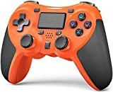 TERIOS Wireless Controllers Compatible with Playstation 4 Game Controllers for PS-4 Pro, PS-4 Slim-Built-in Speaker - Stereo Headset Jack Multitouch Pad - Rechargeable Lithium Battery(Orange)