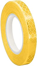 """3M 3431 Yellow Micro Prismatic Sheeting Reflective Tape, 1"""" Width x 50yd  Length (Pack of 2)"""