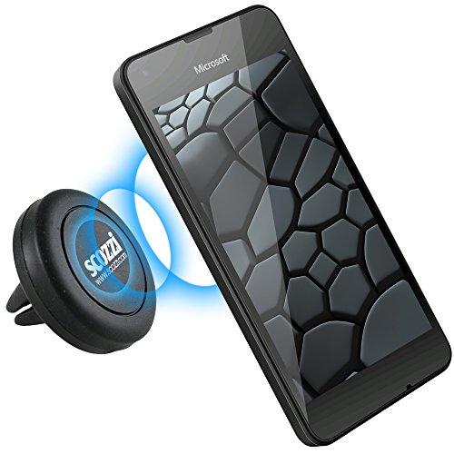 scozzi KFZ Lüftungs-Magnet-Halterung für [Microsoft Lumia 1330 950 650 640 550 540 535 532 435 430   XL LTE Dual SIM + mehr] Auto Halter