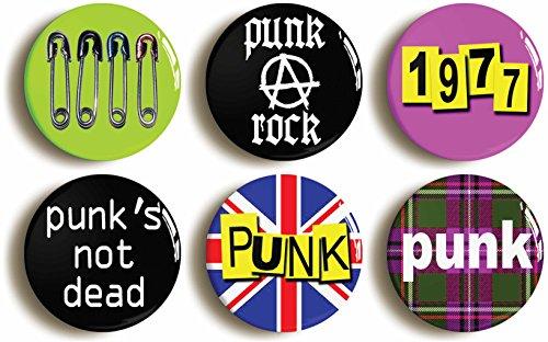 1977 Punk's Not Dead Button Badge Set