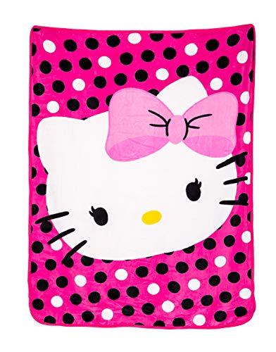 Hello Kitty Manta de felpa de 46 x 60 pulgadas.