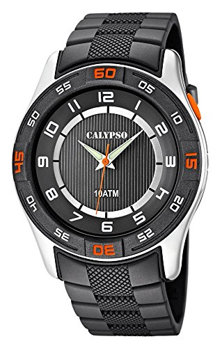 Calypso Watches K6062/1 - Reloj de pulsera analógico para hombre, color gris