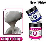 ZQDL Crema de reparación, 2 piezas/set de cerámica para reparación de pisos, inodoros, lavabos, azulejos, etc.
