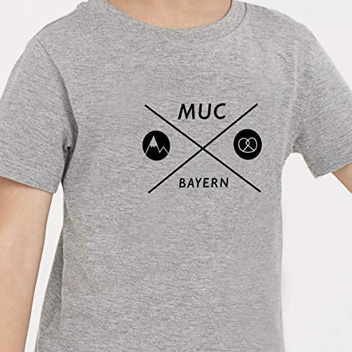 Kinder T-Shirt >München Kreuz< / Unisex, Schwarz, München, Munich, Bavaria, Bayern, Ostern, Easter, Baby, Geschenk, Geburtstag, Birthday,