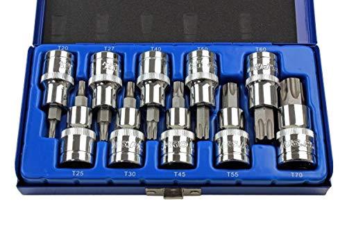 US PRO B1128 Juego de 10 llaves Torx de 1/2 pulgada de accionamiento