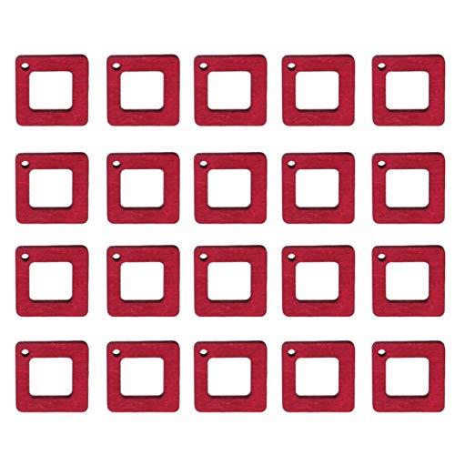 Healifty 30 Piezas Pendientes de Madera Encantos Artesanales Colgantes Encantos Joyería Cuadrada Colgante para Diy Artesanía Joyería Collar Pendientes Pulsera