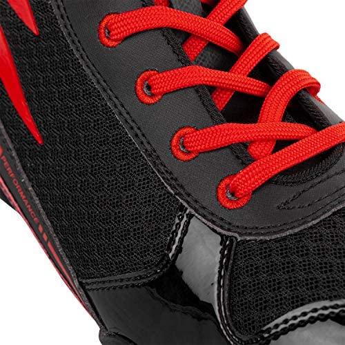 Venum Giant Low Boxing Shoes - Black/Red - 44 (US 10)